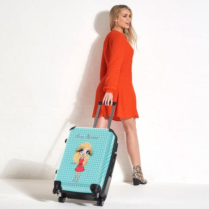 ClaireaBella Polka Dot Suitcase - Image 5