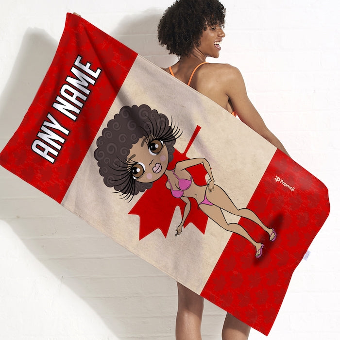 ClaireaBella Love Canada Flag Beach Towel - Image 2