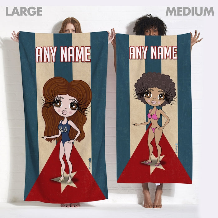ClaireaBella Love Cuba Flag Beach Towel - Image 6