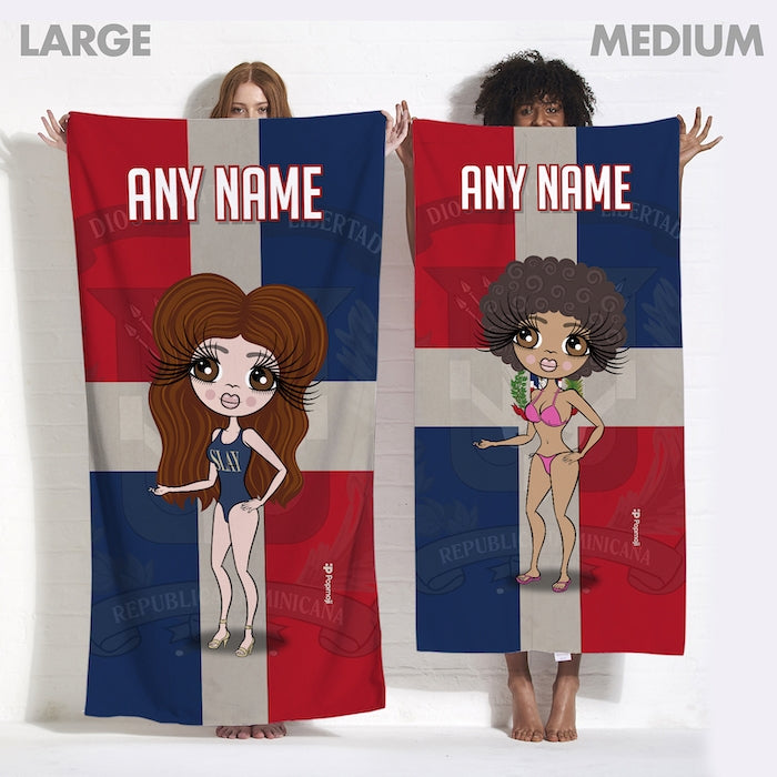 ClaireaBella Love Dominican Republic Flag Beach Towel - Image 3
