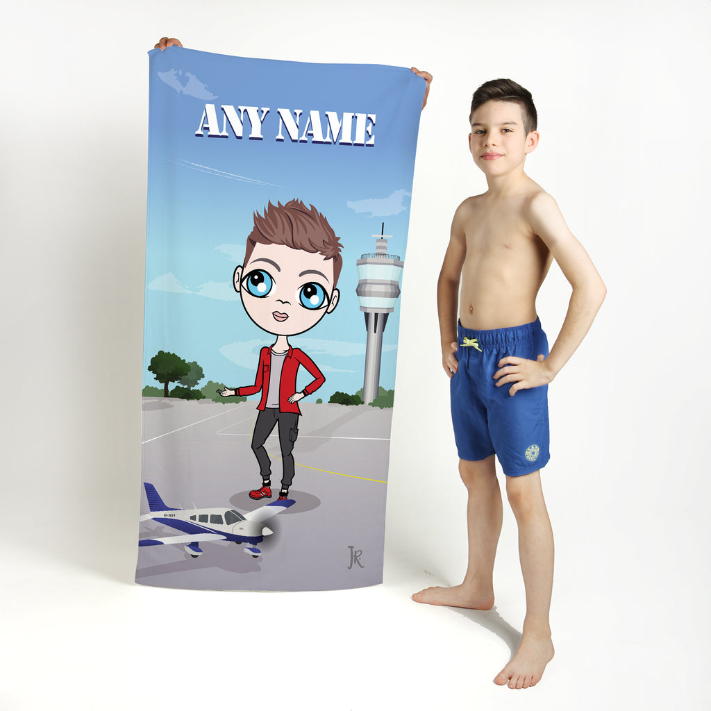 Jnr Boys Airplanes Beach Towel