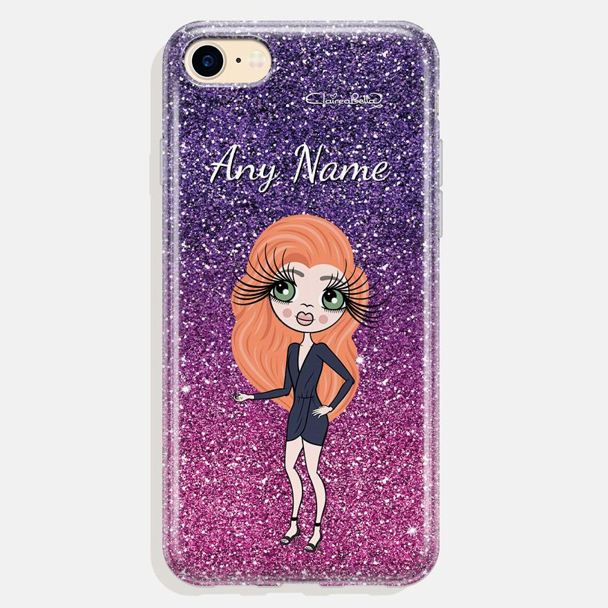 ClaireaBella Personalized Ombre Glitter Effect Phone Case - Image 1