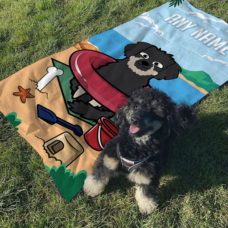 Personalized Dog Beach Fun Beach Towel - Image 2