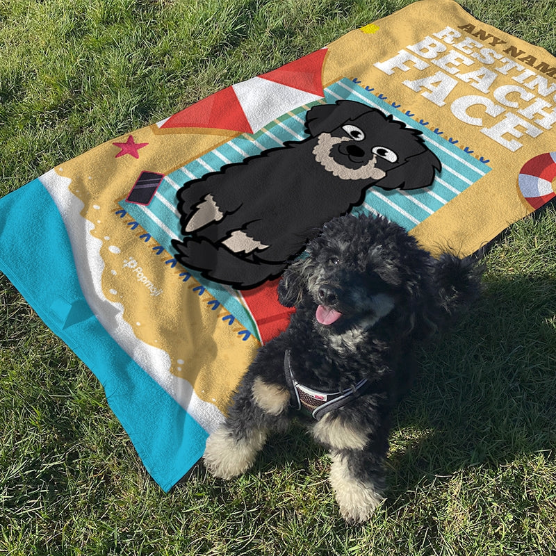 Personalized Dog Resting Beach Towel - Image 2
