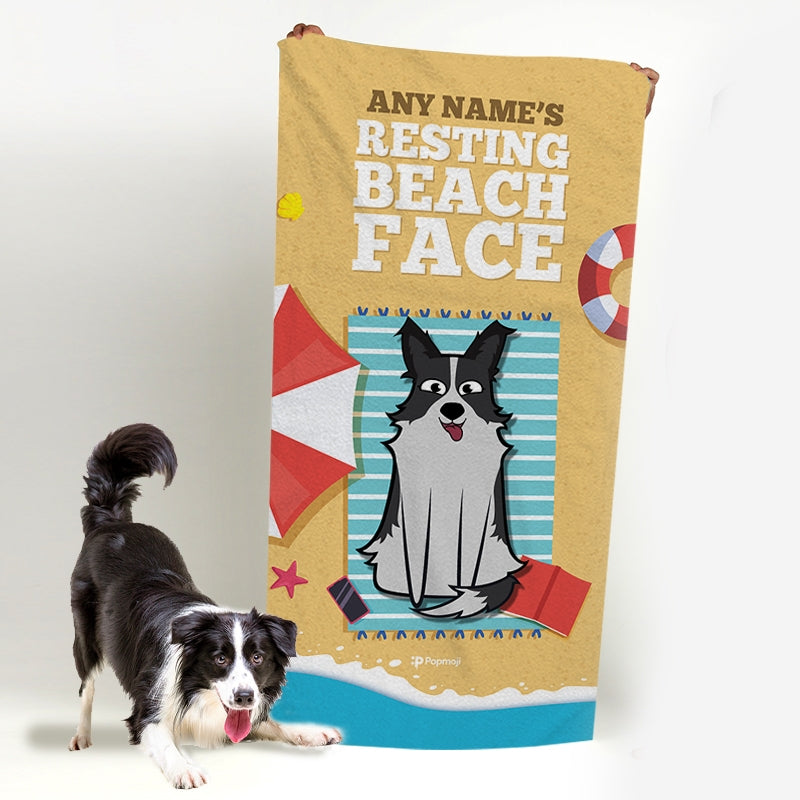 Personalized Dog Resting Beach Towel - Image 5