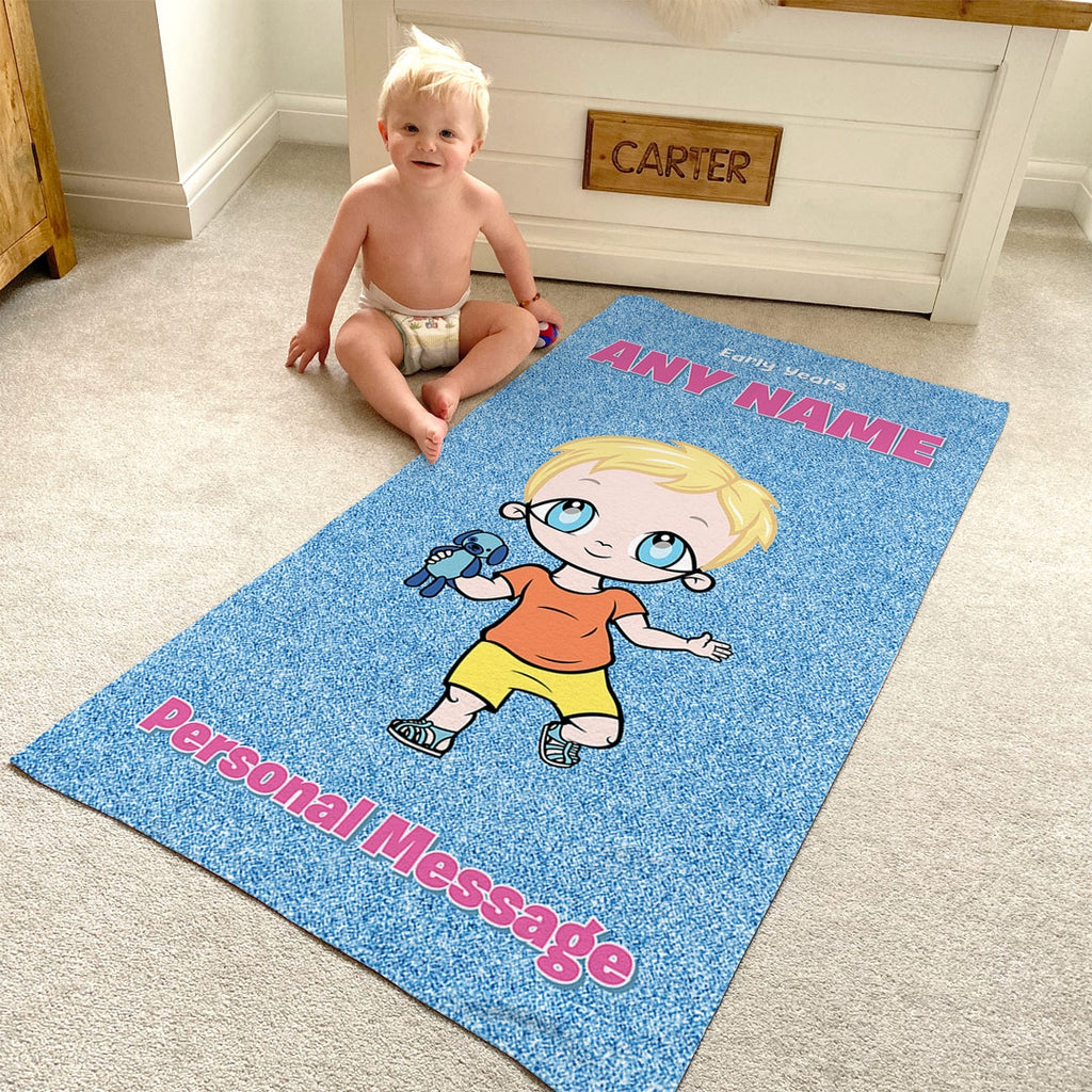 Early Years Blue Glitter Effect Beach Towel - Image 1
