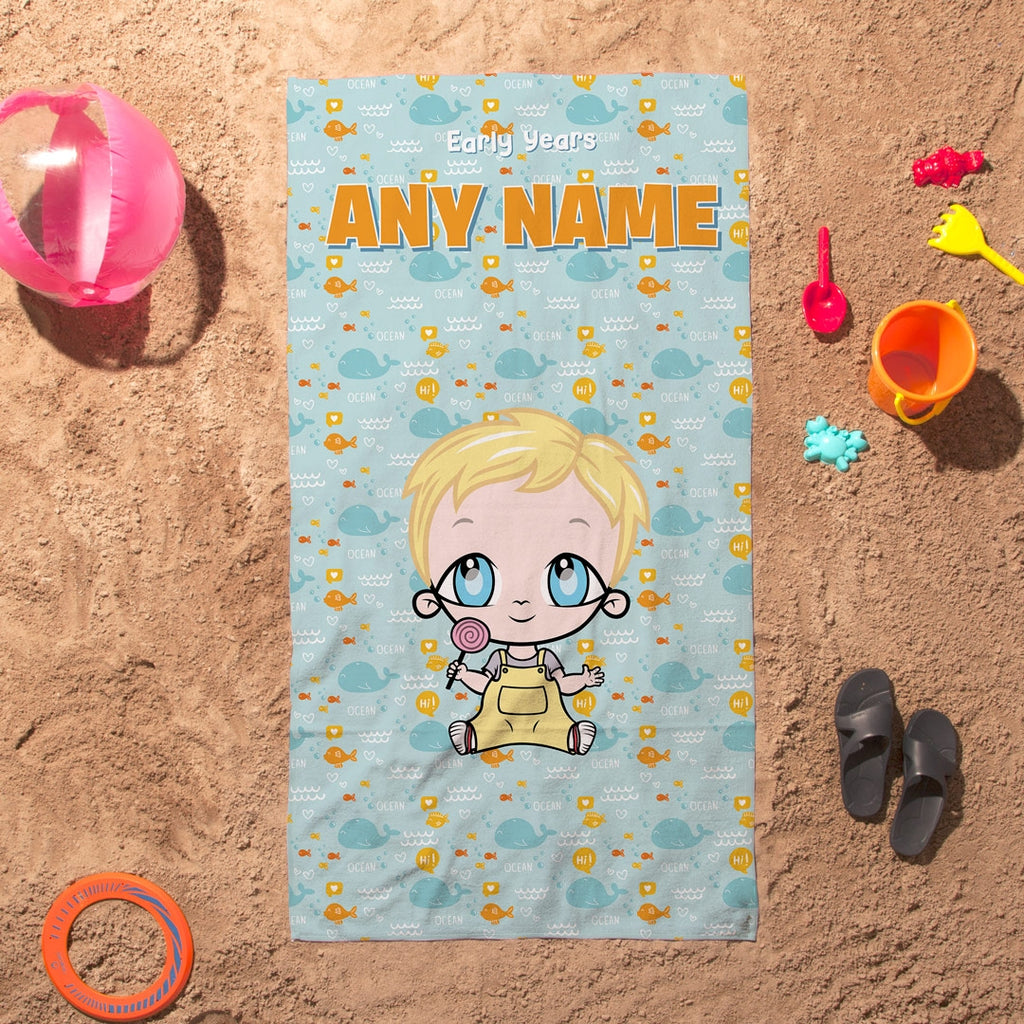 Early Years Fish Pattern Beach Towel - Image 1