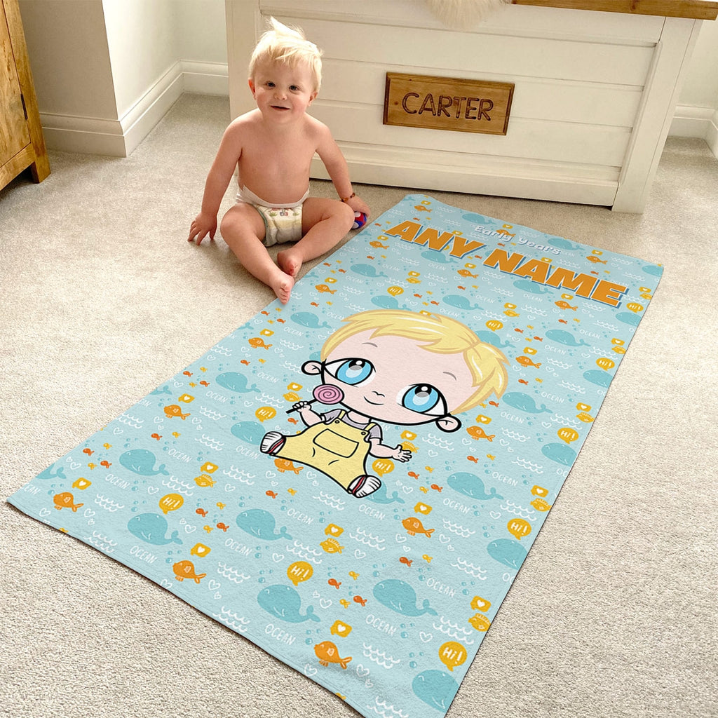 Early Years Fish Pattern Beach Towel - Image 3
