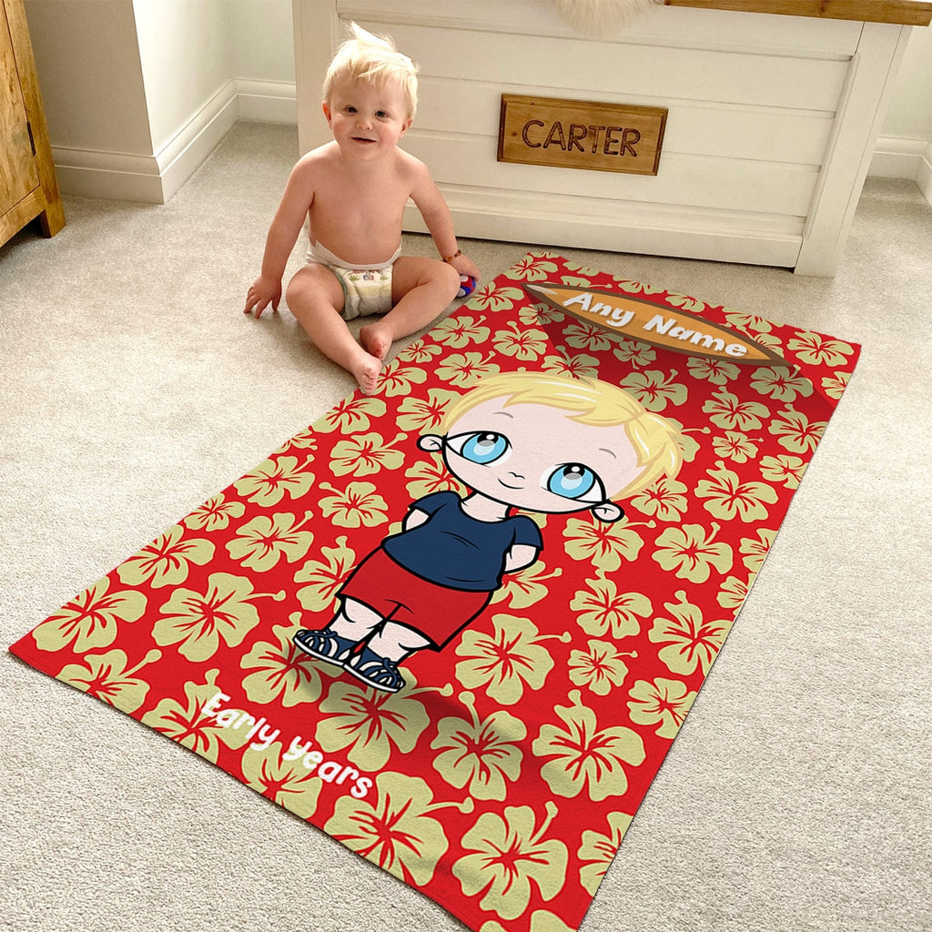Early Years Red Hula Flowers Beach Towel - Image 6