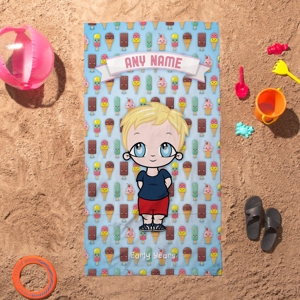 Early Years Ice Cream Beach Towel - Image 3