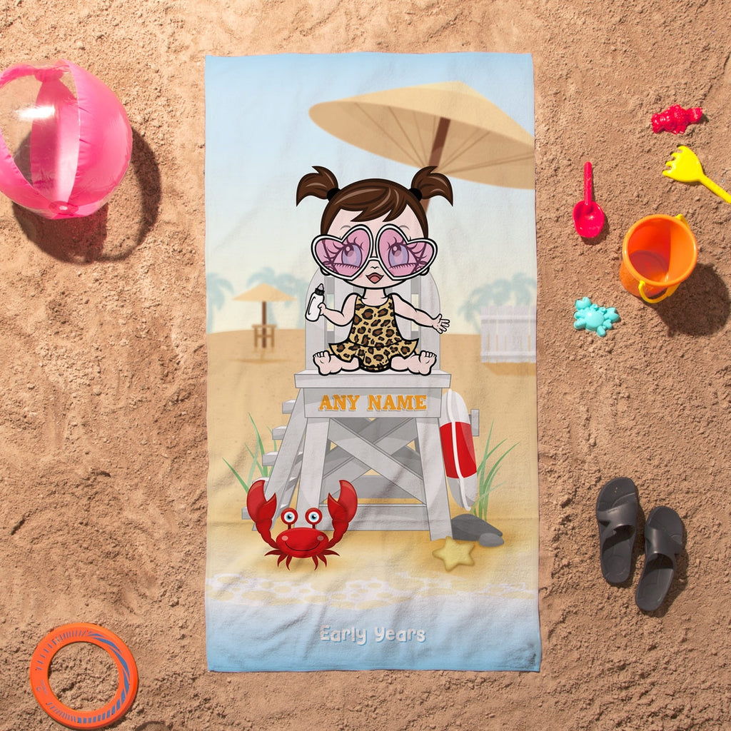Early Years Life Guard Beach Towel - Image 1