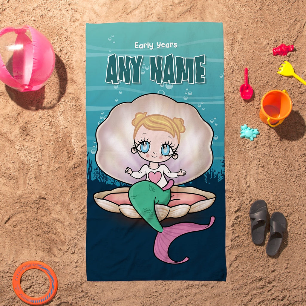 Early Years Mermaid Beach Towel - Image 1