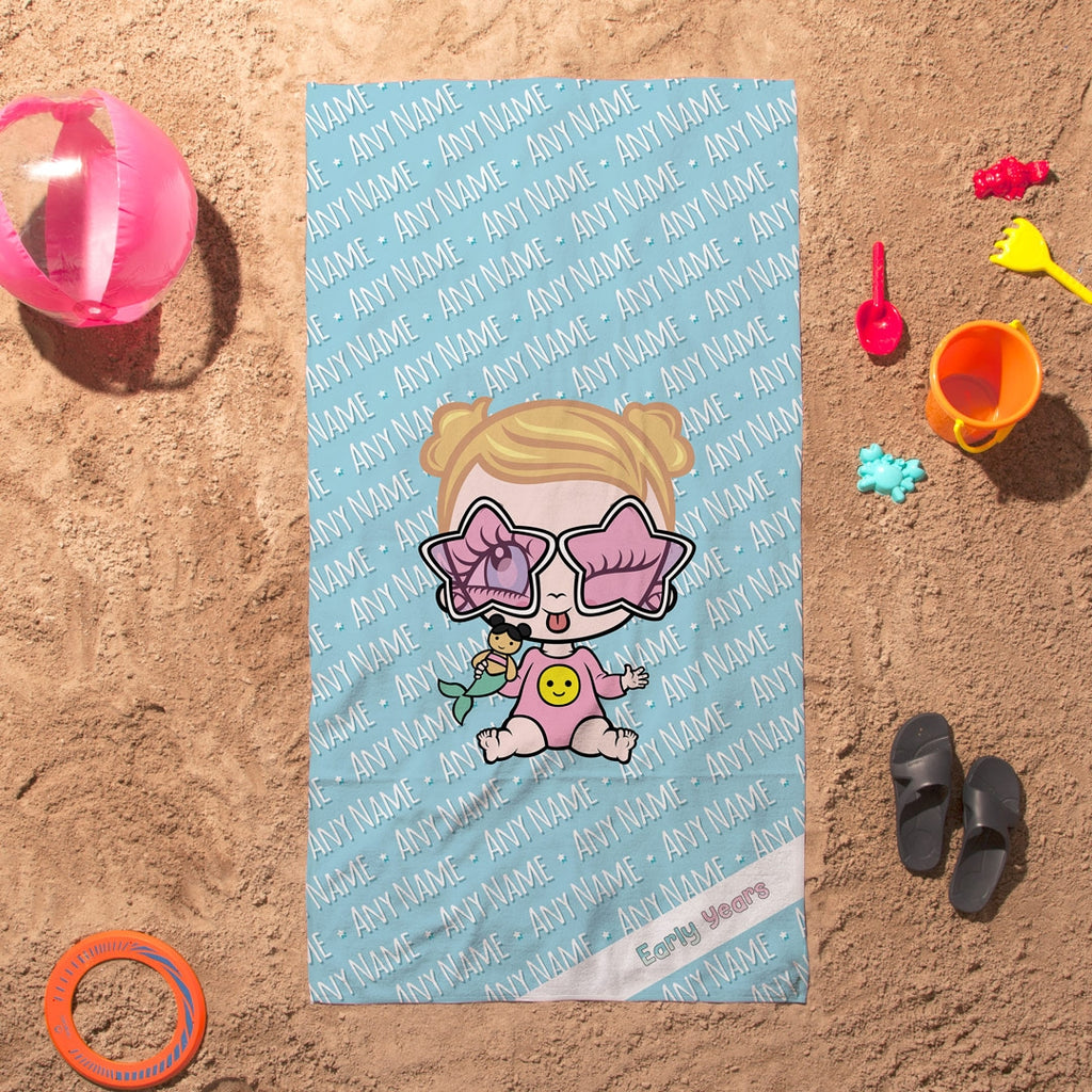 Early Years Blue Typography Beach Towel - Image 6