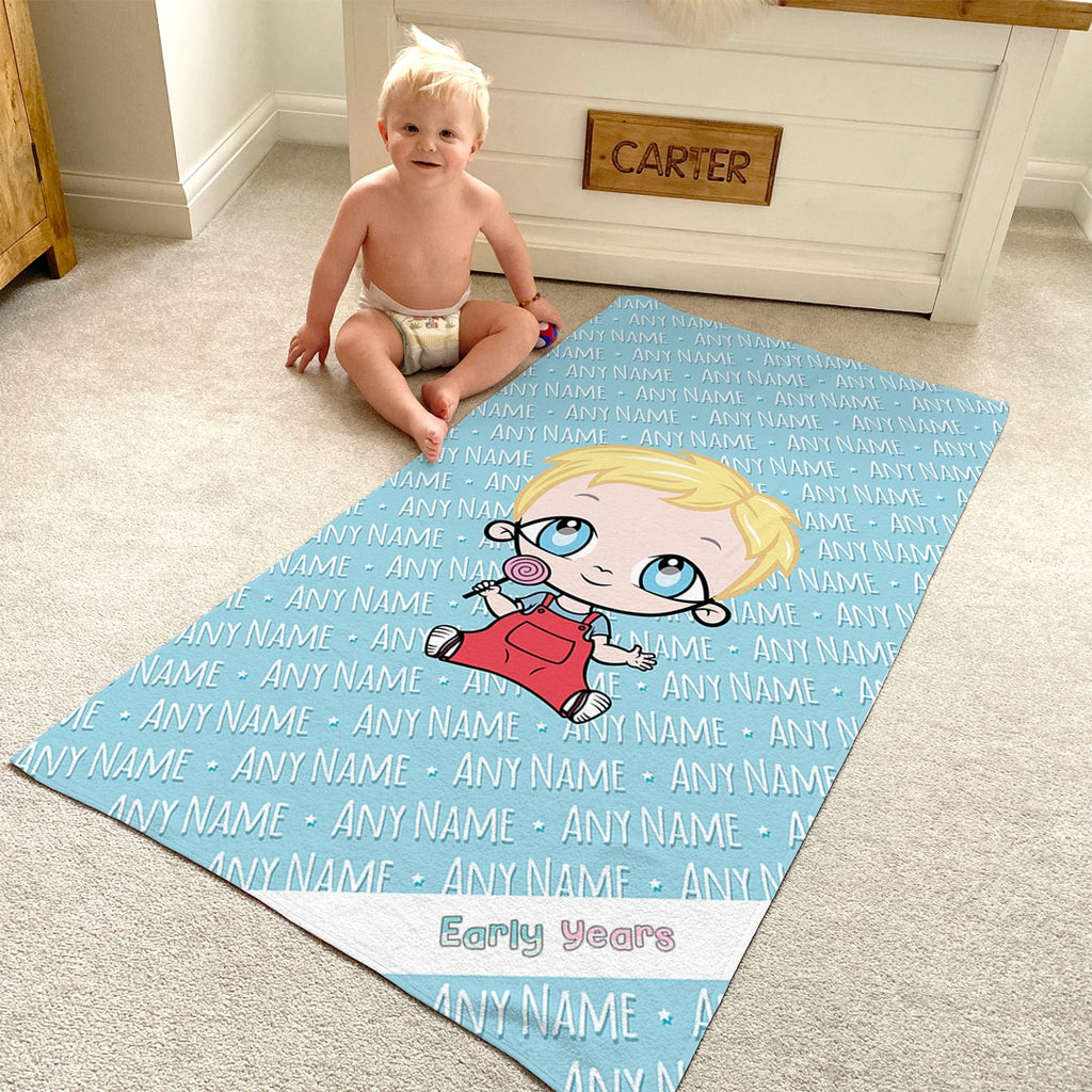 Early Years Blue Typography Beach Towel - Image 3