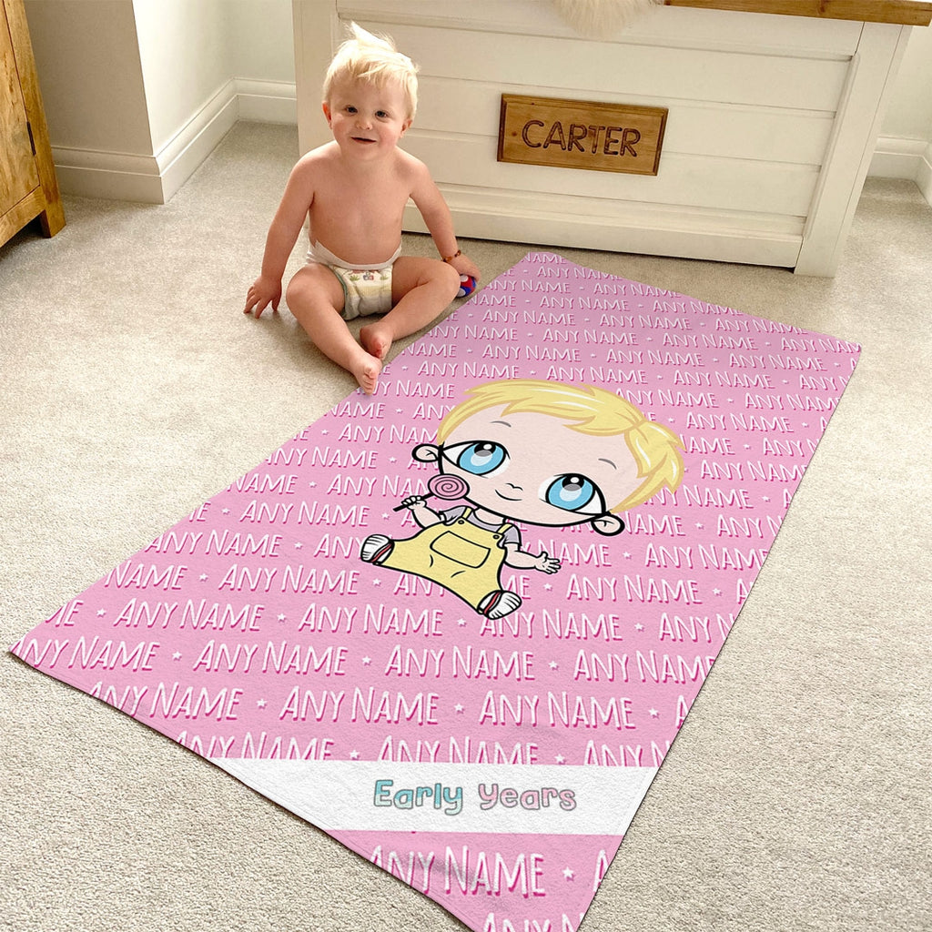 Early Years Pink Typography Beach Towel - Image 3