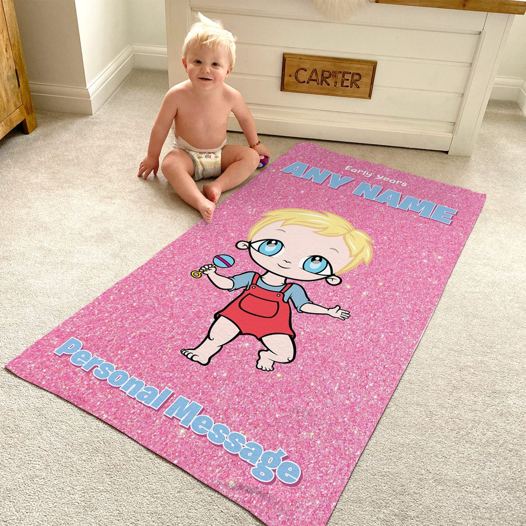 Early Years Pink Glitter Effect Beach Towel - Image 6
