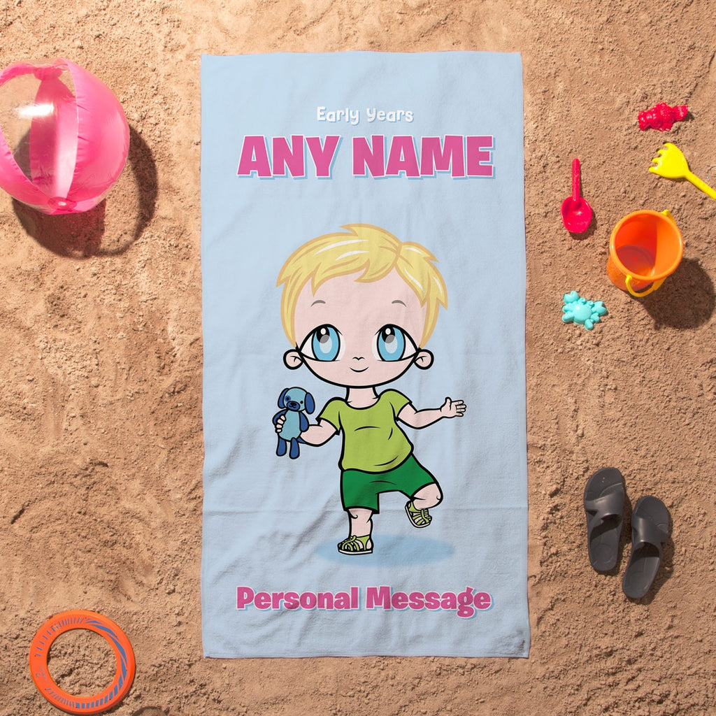 Early Years Baby Blue Beach Towel - Image 6