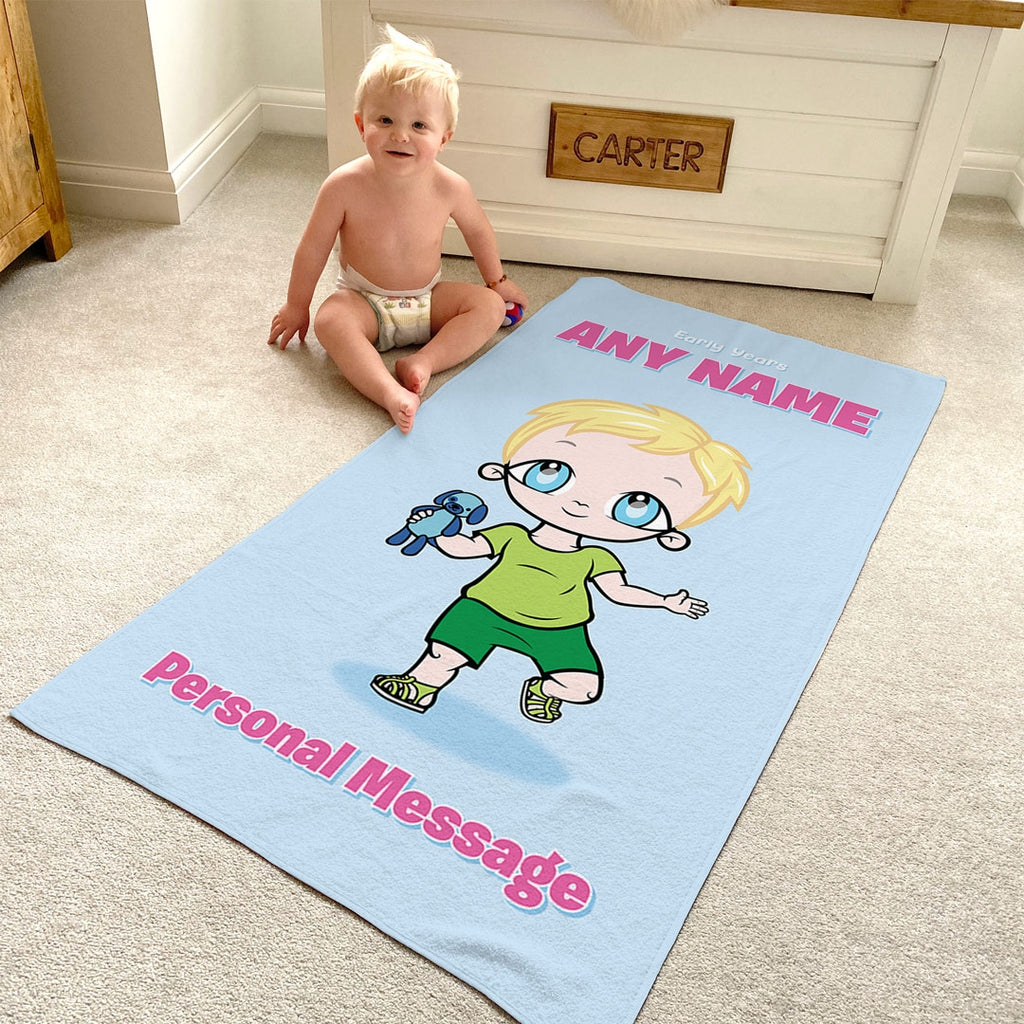 Early Years Baby Blue Beach Towel - Image 1