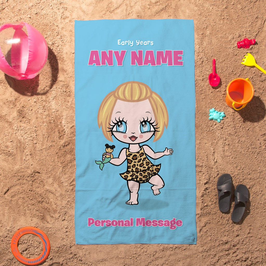Early Years Blue Beach Towel - Image 1
