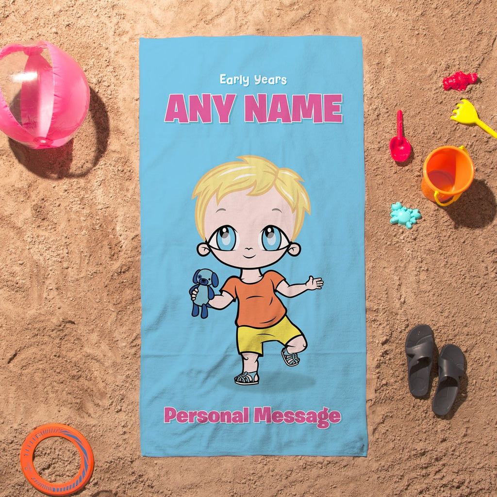 Early Years Blue Beach Towel - Image 5