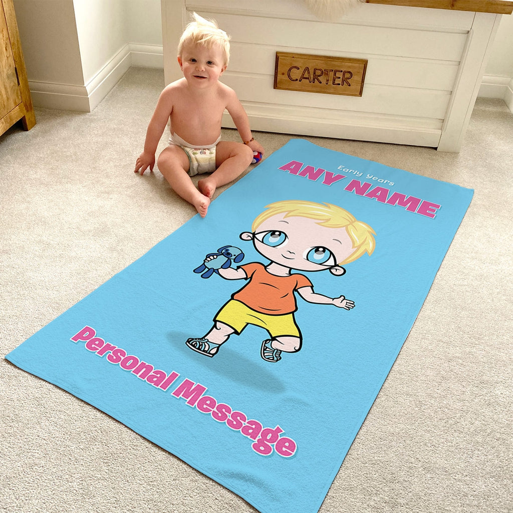 Early Years Blue Beach Towel - Image 3
