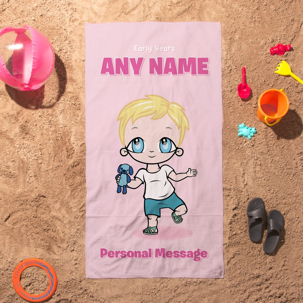 Early Years Pink Beach Towel - Image 5