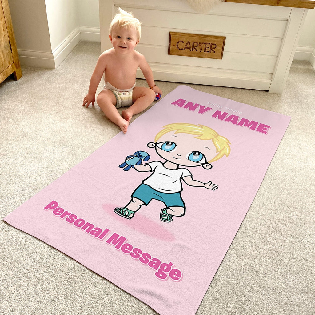 Early Years Pink Beach Towel - Image 3