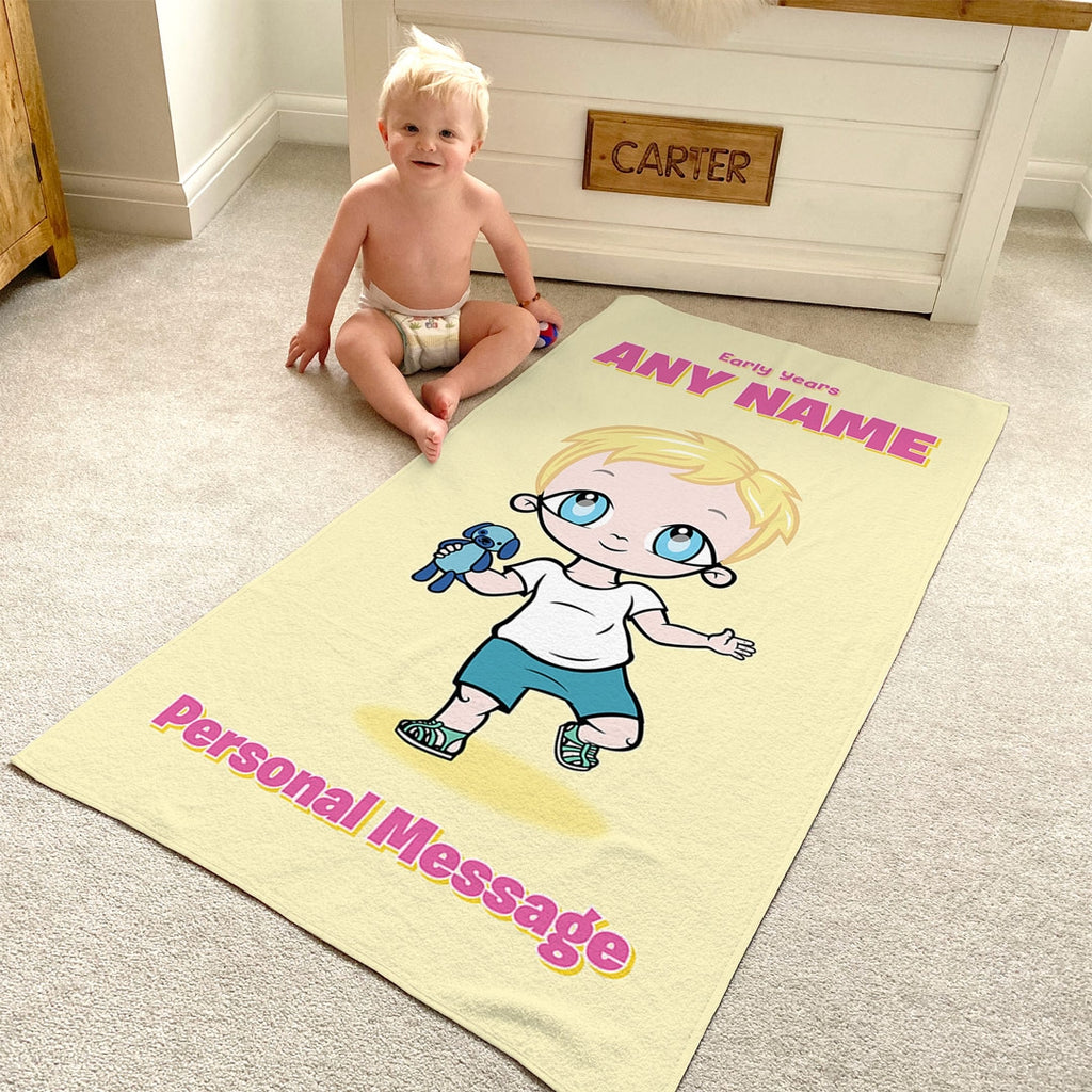 Early Years Yellow Beach Towel - Image 2