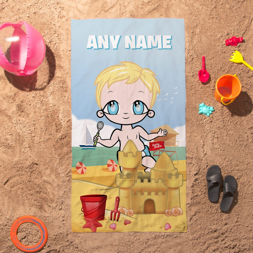 Early Years Sandcastle Fun Beach Towel - Image 1