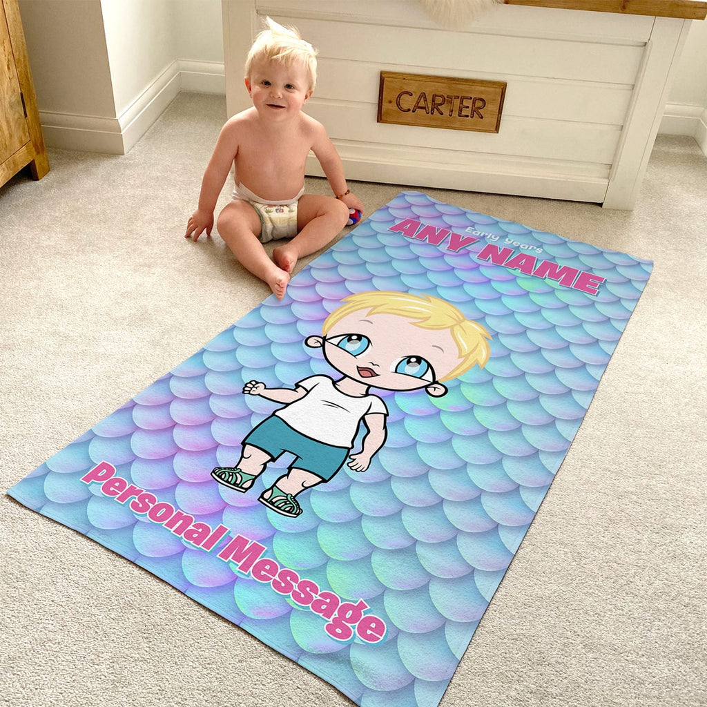 Early Years Scale Shimmer Beach Towel - Image 4
