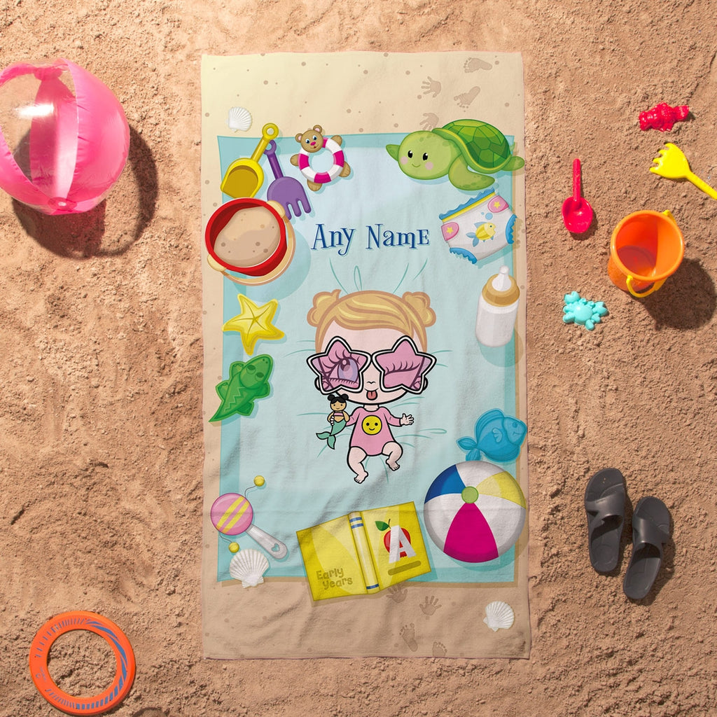 Early Years Sunbathing Fun Beach Towel - Image 1