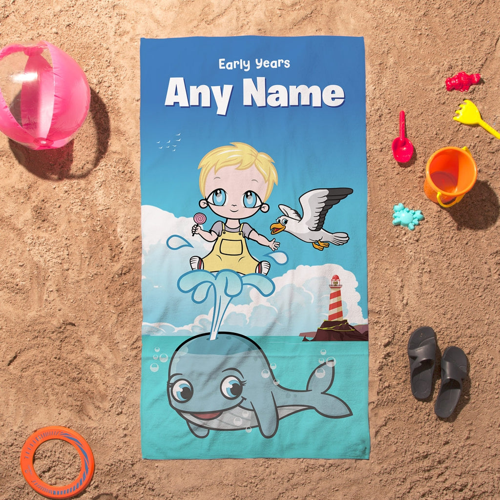 Early Years Whale Beach Towel - Image 3