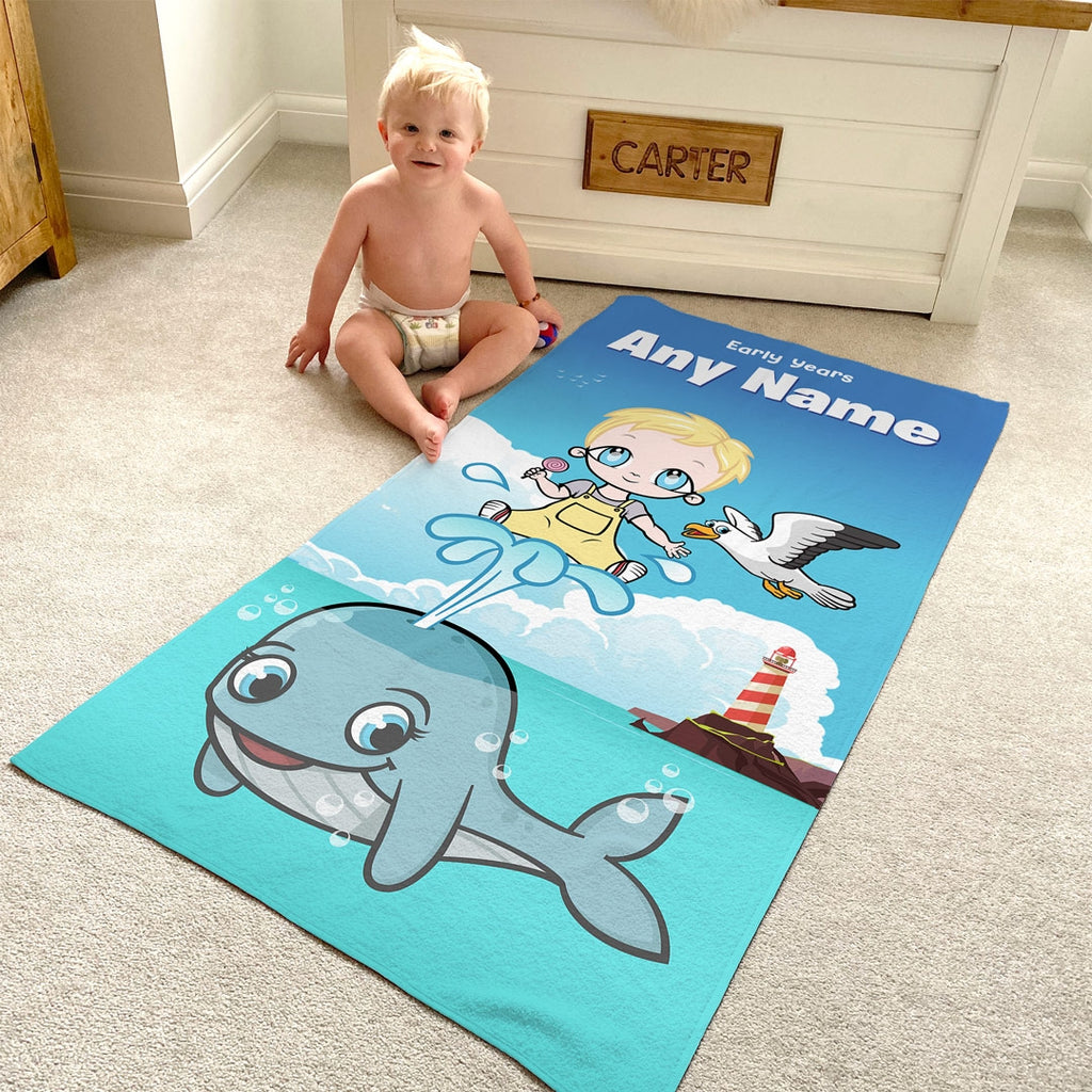 Early Years Whale Beach Towel - Image 1