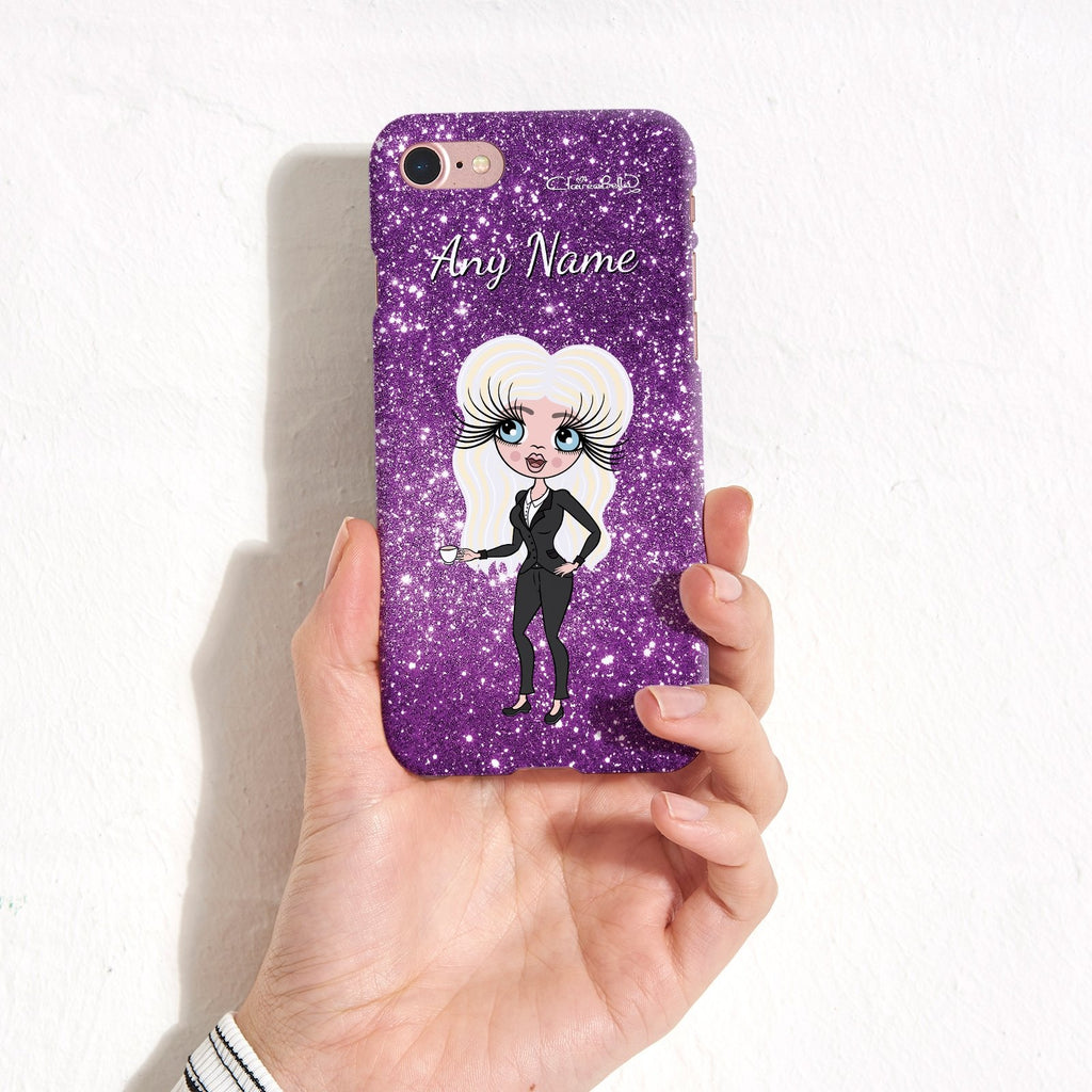 ClaireaBella Personalized Glitter Effect Phone Case - Purple - Image 2