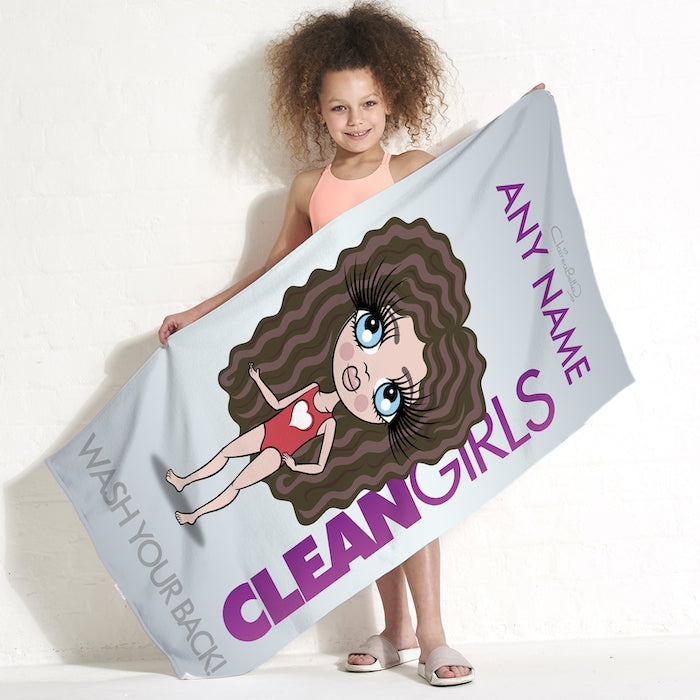 ClaireaBella Girls Clean Girls Beach Towel - Image 1