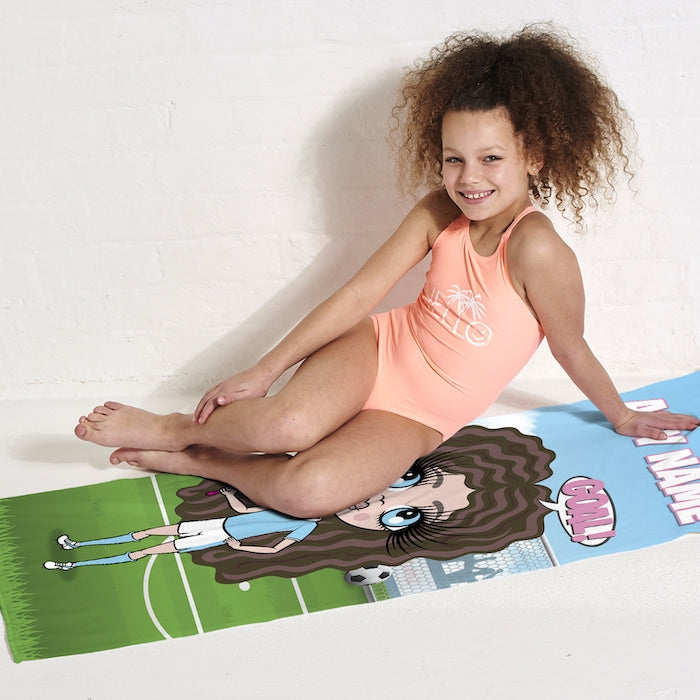 ClaireaBella Girls Footballing Goals Beach Towel - Image 6
