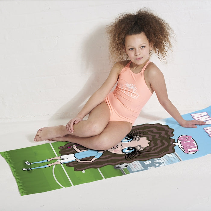 ClaireaBella Girls Footballing Goals Beach Towel - Image 3