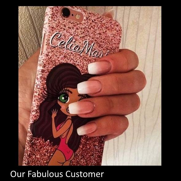 ClaireaBella Selfie Glitter Effect Phone Case - Image 7