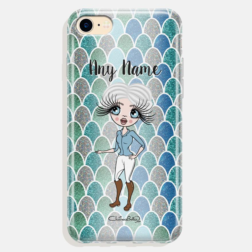 ClaireaBella Personalized Mermaid Glitter Effect Phone Case - Image 0