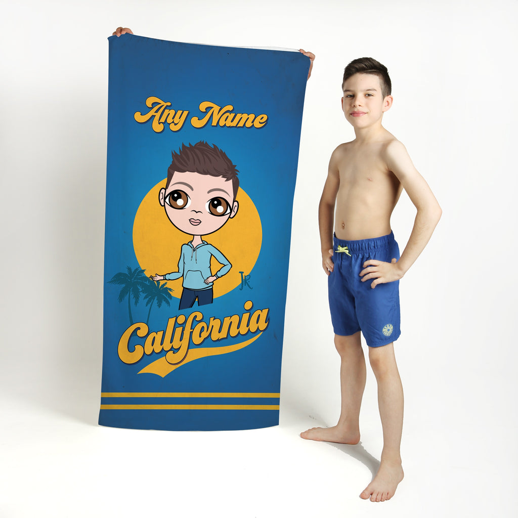 Jnr Boys California Palms Beach Towel - Image 1