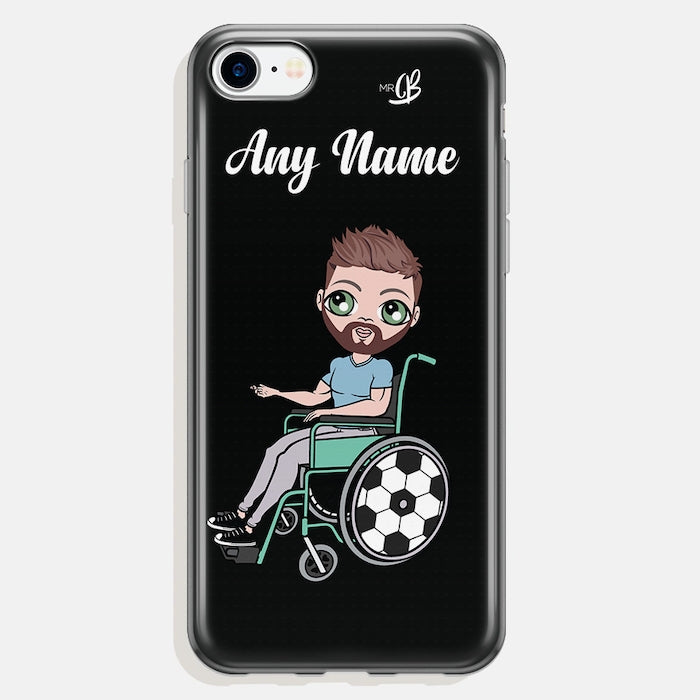 MrCB Wheelchair Personalized Black Phone Case - Image 1