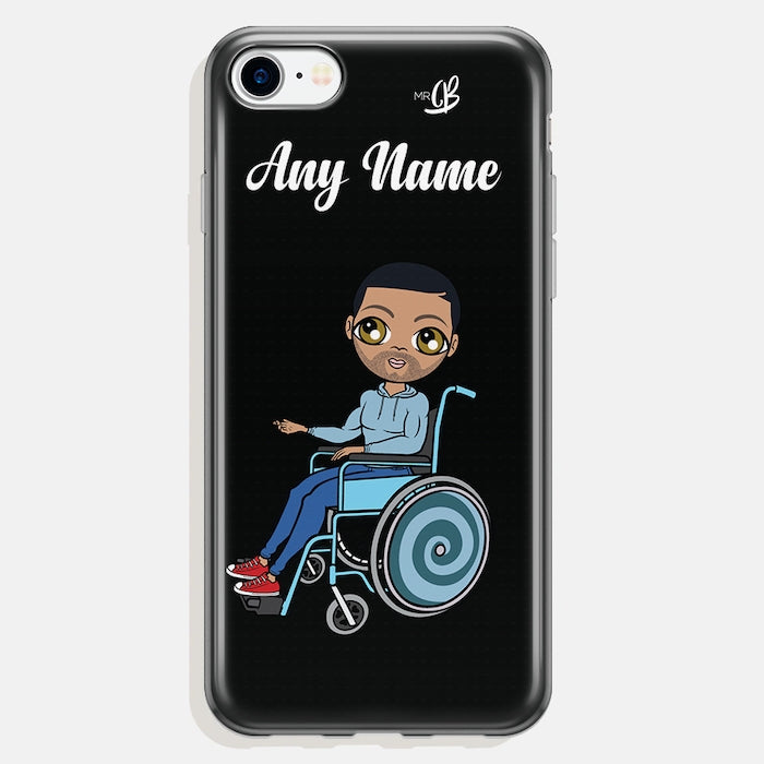 MrCB Wheelchair Personalized Black Phone Case - Image 2