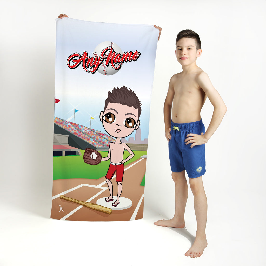 Jnr Boys Baseball Beach Towel - Image 1