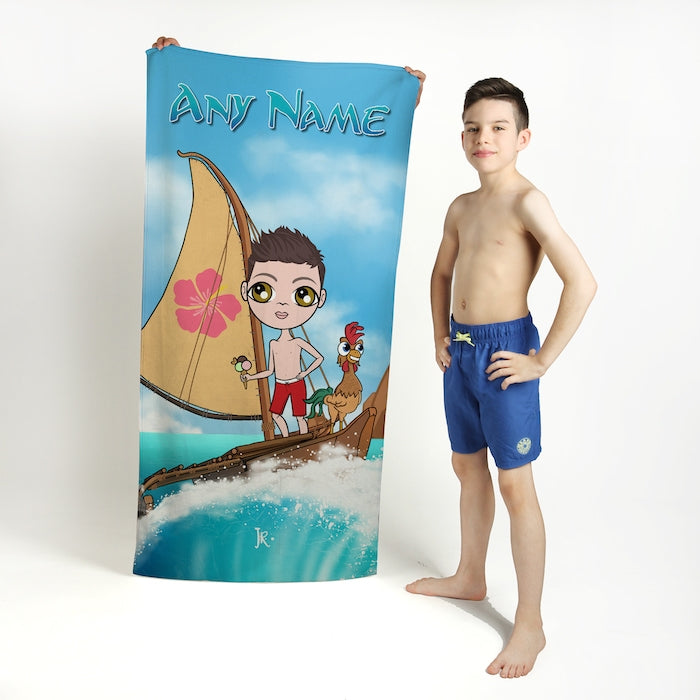 Jnr Boys Sea God Beach Towel - Image 2