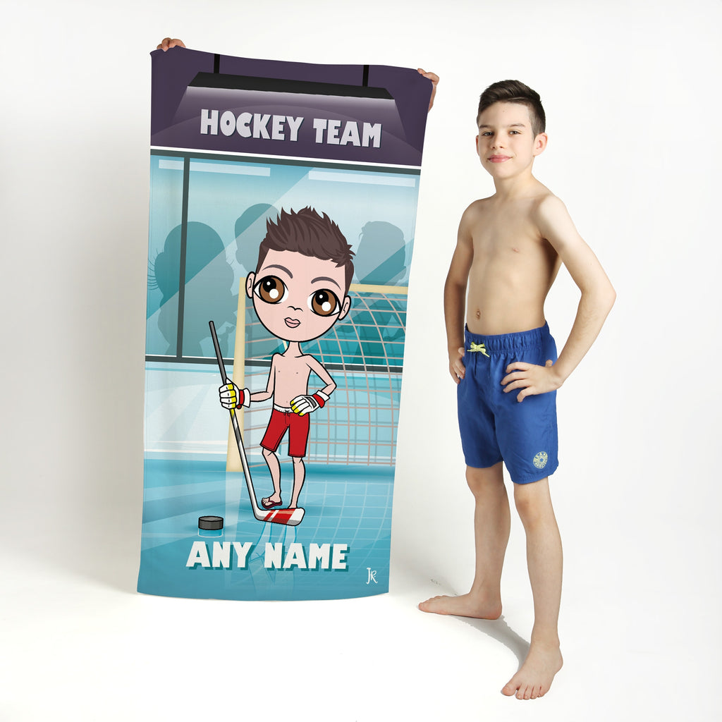 Jnr Boys Ice Hockey Beach Towel - Image 1