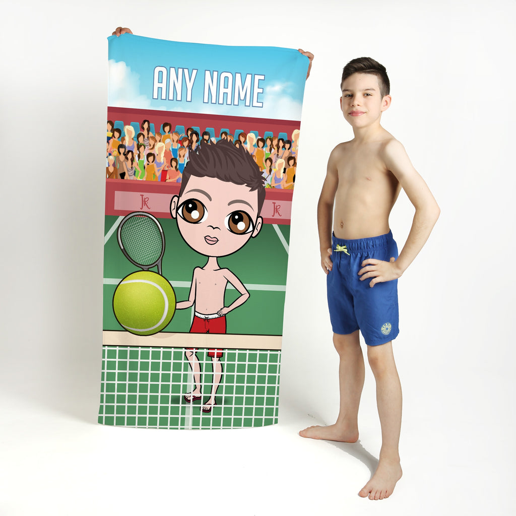 Jnr Boys Tennis Beach Towel - Image 1