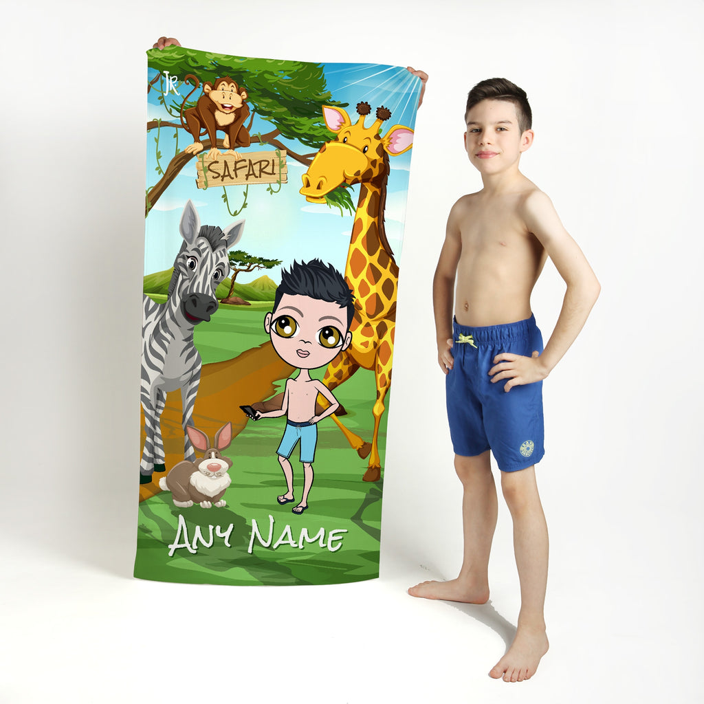 Jnr Boys Safari Beach Towel - Image 1