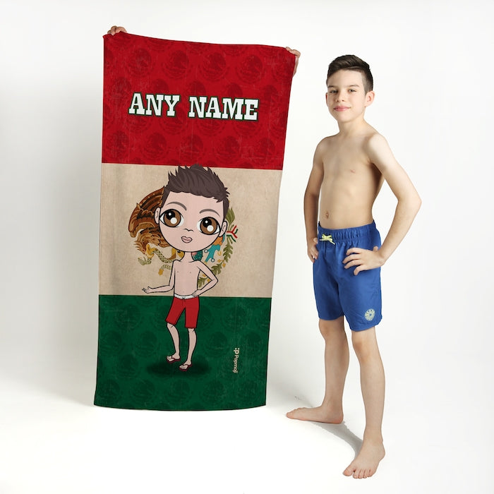 Jnr Boys Love Mexico Flag Beach Towel - Image 1