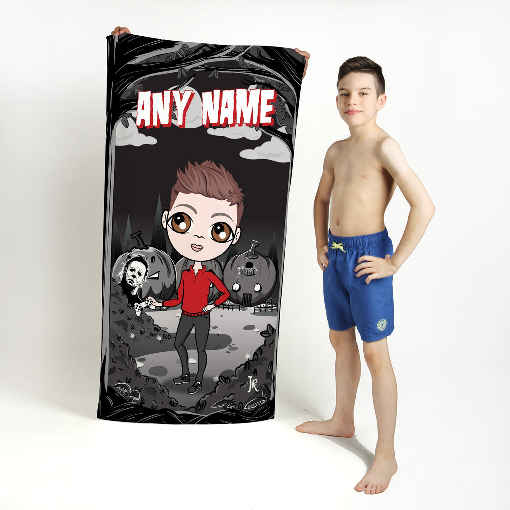 Jnr Boys Forest Of Terror Beach Towel - Image 1