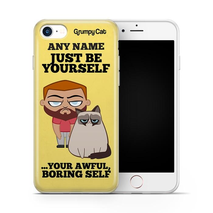 Grumpy Cat Be Yourself Phone Case - Image 2